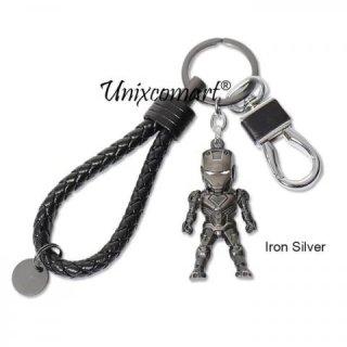 Cars Key Chain Superhero Gantungan Kunci Mobil Motor Premium Metal - Iron Silver