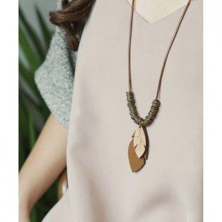 RING LEAVES Necklace | Kalung Etnik Handmade Kayu Kulit