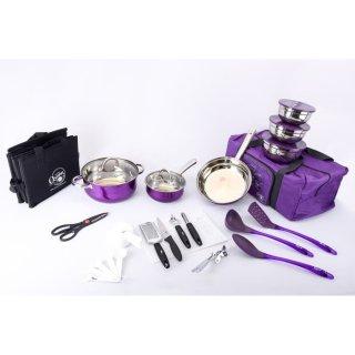 OXONE OX993 Kitchen Travel Cookware Set 33 Pcs
