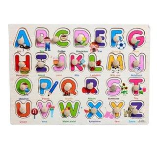 Mainan Edukasi Puzzle Knob Huruf