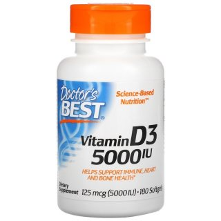 Doctor's Best Vitamin D3 5000 IU