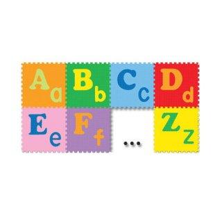 Evamat Tikar Huruf Besar Kecil ABC Polos Abjad Polos Puzzle Karpet