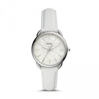 Fossil Tailor Three-Hand White Leather Watch - Jam Fossil Wanita - ES4495