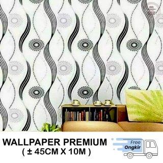 Wallpaper Stiker Dinding Motif Polkadot Cakra