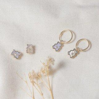 Keykana Baby Jewelry 14K Real Italy Gold - Anting MOP Tusuk / Bulat