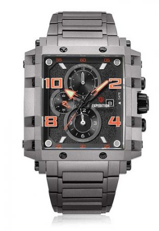 Expedition - Expedition Jam Tangan Pria Black Grey Stainless Steel 6757 MCBEPBA