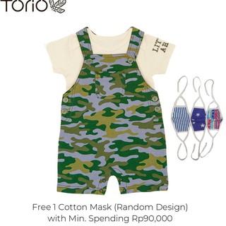 Torio Tiny Army Overall Set - Baju Anak Laki Laki Pakaian Anak Laki Laki Jumper Anak
