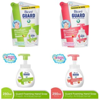 Biore Hand Soap Microfoam Fresh Antibacterial Foaming