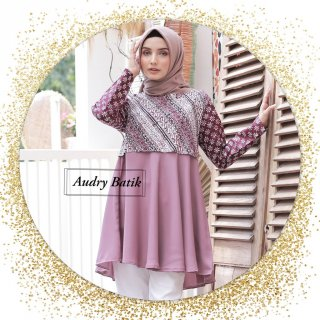Audry Batik - Adelia Blouse Batik Katun Cap Premium