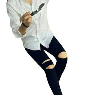 JN99 Ripped Jeans Cut Knee