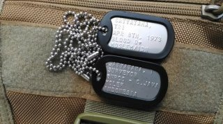 Kalung Military ID-Tag (Military Dog Tag)
