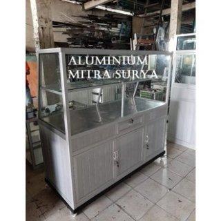 Lemari Makanan Aluminium Kaca