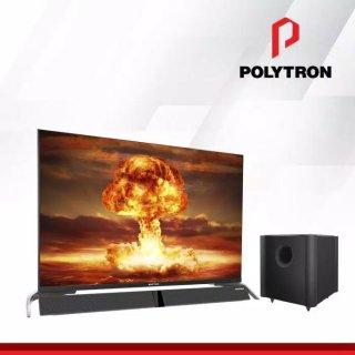 LED TV POLYTRON 43 INCH PLD 43B8951 FRAMELESS CINEMAX SOUNDBAR