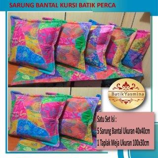 Sarung Bantal Kursi Sofa Batik Kain Perca