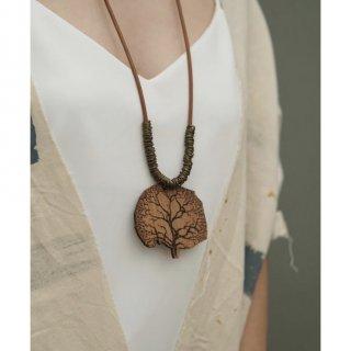 LEYA Necklace | Kalung Etnik Handmade Kayu Kulit