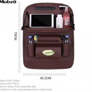 Mobeo Car Seat Organizer / Tas Jok PU Leather Meja Lipat Size A