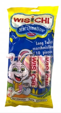 Wischi Long Twist Marshmallow Strawberry