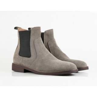 Sepatu Chelsea Boots Grey Suede