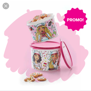 Tupperware Barbie Canister