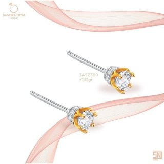 "Sandra Dewi Gold Earring ""Princess Style"" A"