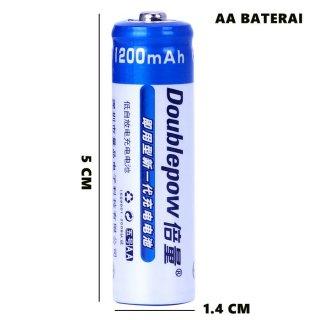 DOUBLEPOW AA 1200mAh Batre 1.2v