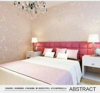 Wallpaper Dinding 3D Warm Romantic Pink
