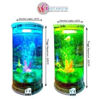 Aquarium Mini Plus Mesin Aerator Oksigen WG V4