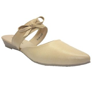 Klensia Bustong Wanita Flat Women Slip On Mules Mocca 671-013