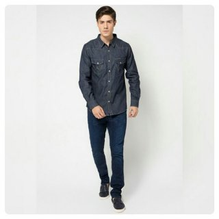 KEMEJA WRANGLER SALE DENIM SLIM SHIRT