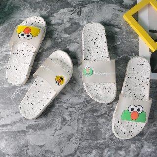 Yinan Summer Fashion Home Sesame Street Thick Bottom Slip Women Slipper