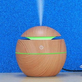 Humidifier Aromatherapy Air Desain Kayu Lampu Tidur LED