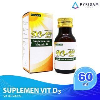 D3-400 Sirup Suplemen Vitamin D3