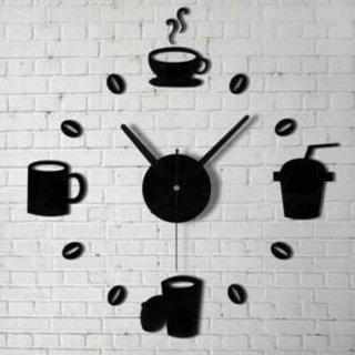 DIY Giant Wall Clock Quartz Model Kopi Cafe