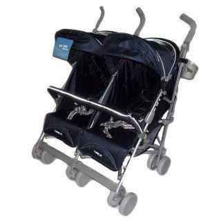 Kereta Dorong Bayi Kembar Stroller BabyElle 2500 Twin Trevi Navy Blue