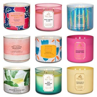 Lilin Aromaterapi - BATH AND BODY WORKS Candle Aromatherapy 3 Wicks