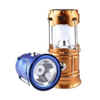 HBS Lentera Camping T-5800 Rechargeable Lamp Powerbank Solar Senter Lampu Emergency