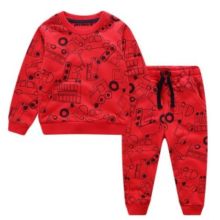 hb PASSWORD FULLPRINT CAR Setelan Sweater 1 - 7 Tahun