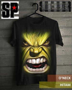 Kaos 3D Hulk Face Soul Power Style