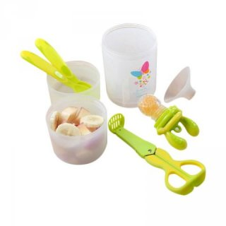 Kidsme Baby Travel Easy Set with Food Container Peralatan Makan Anak