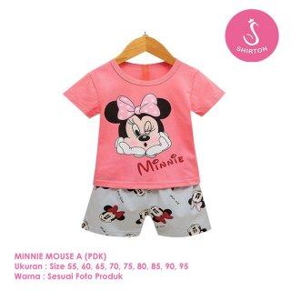 Baju Tidur Anak Perempuan Karakter Mickey Mouse
