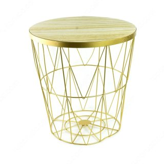 Topaz Storage Table - Gold