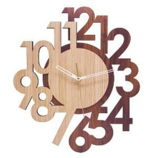 Jam Dinding MWC Layer Wood New CJ755
