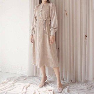 Sage Pleated Dress