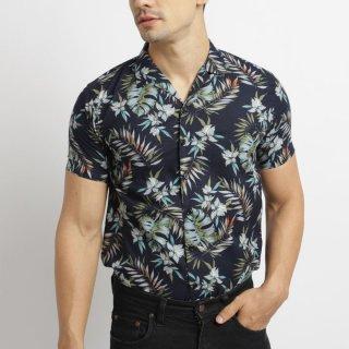 VENGOZ Zane Casual Shirt Kemeja Hawai Printing Pria