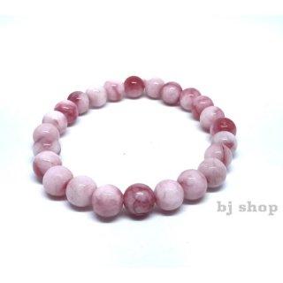 Gelang Batu Jade Giok Pink 8mm