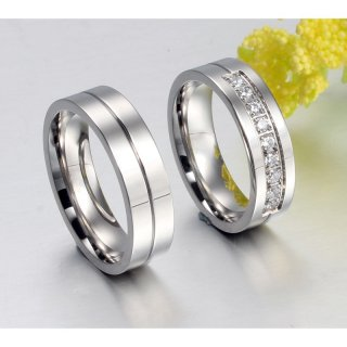Cincin Couple / Tunangan / Nikah / Pasangan / Titanium Cocok untuk hadiah C023
