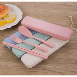 Cutlery Set Alat Makan Sendok Sumpit Garpu Korean Style Travel