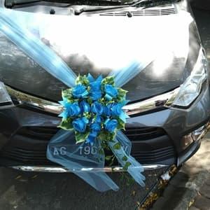 Hiasan Bunga Mobil Pengantin Tipe B (Biru)