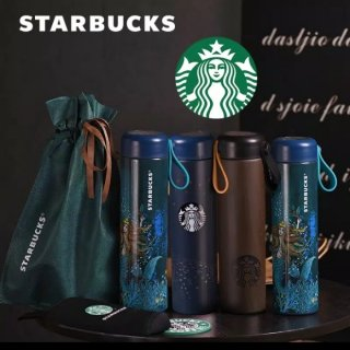 Tumbler Starbucks Starry Night Stainless Steel 500ml