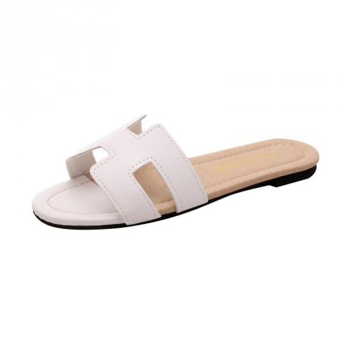 Khalista Collections Flats Sandal Loafers Flip Flops Casual Synthetis  Leather - Putih 6ca360b3f3